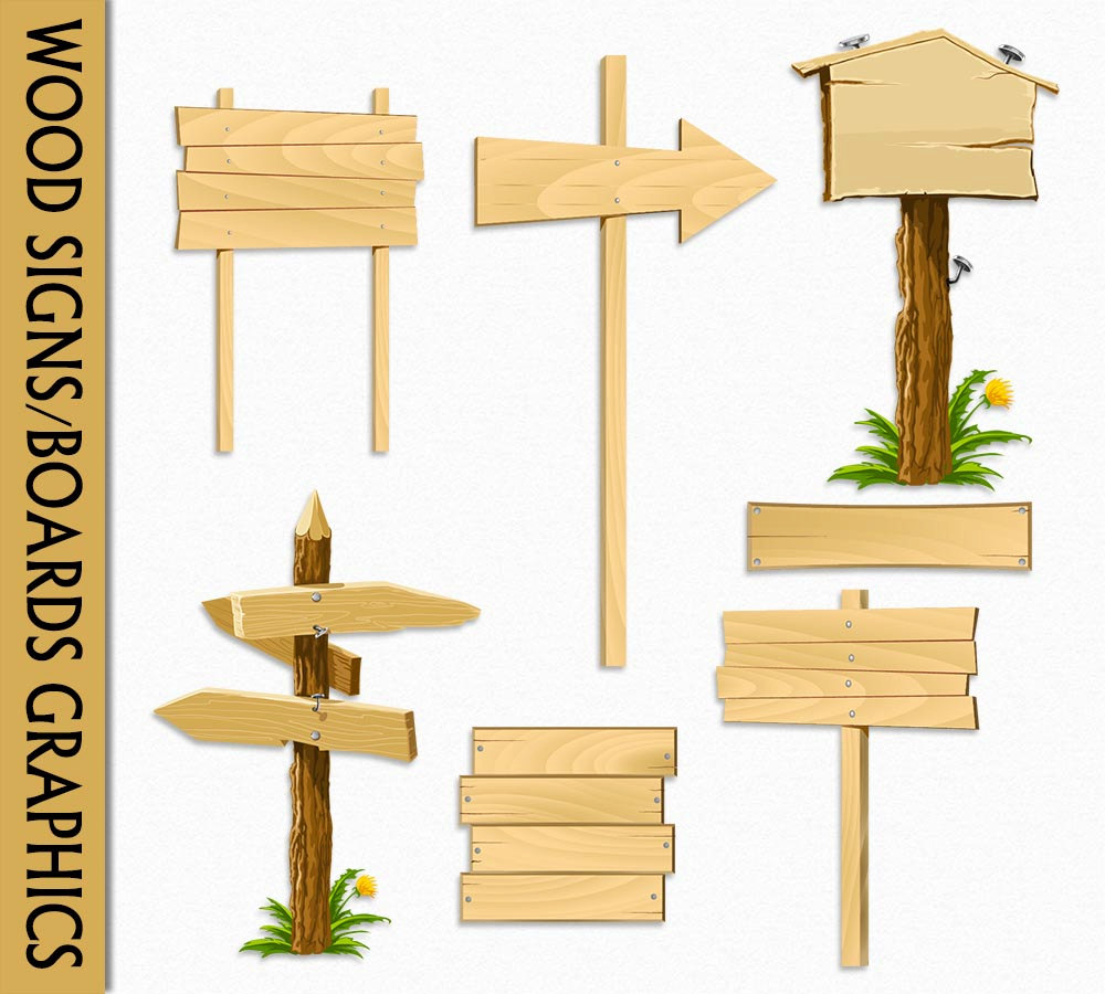 Wooden Sign Clipart--17
