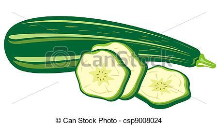 ... zucchini - Stylized zucchini and sli-... zucchini - Stylized zucchini and slices isolated on a white... ...-9